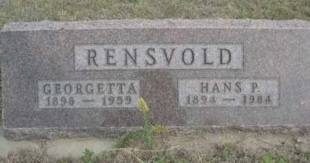 RENSVOLD, HANS P. - Dawes County, Nebraska | HANS P. RENSVOLD - Nebraska Gravestone Photos
