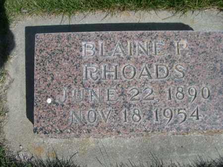RHOADS, BLAINE P. - Dawes County, Nebraska | BLAINE P. RHOADS - Nebraska Gravestone Photos
