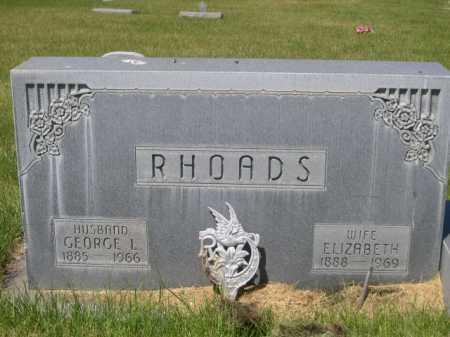 RHOADS, ELIZABETH - Dawes County, Nebraska | ELIZABETH RHOADS - Nebraska Gravestone Photos