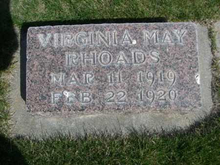 RHOADS, VIRGINIA MAY - Dawes County, Nebraska | VIRGINIA MAY RHOADS - Nebraska Gravestone Photos