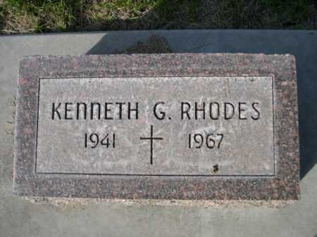 RHODES, KENNETH G. - Dawes County, Nebraska | KENNETH G. RHODES - Nebraska Gravestone Photos