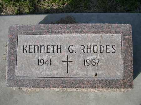 RHODES, KENNETH G. - Dawes County, Nebraska | KENNETH G. RHODES - Nebraska Gravestone Photos
