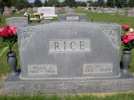RICE, WILLIS J. - Dawes County, Nebraska | WILLIS J. RICE - Nebraska Gravestone Photos