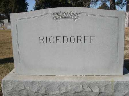 RICEDORFF, FAMILY - Dawes County, Nebraska   FAMILY RICEDORFF - Nebraska Gravestone Photos