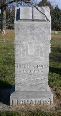 RICHARDS, JULIET AMANDA - Dawes County, Nebraska | JULIET AMANDA RICHARDS - Nebraska Gravestone Photos