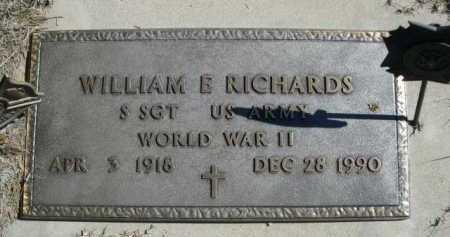 RICHARDS, WILLIAM E. - Dawes County, Nebraska | WILLIAM E. RICHARDS - Nebraska Gravestone Photos