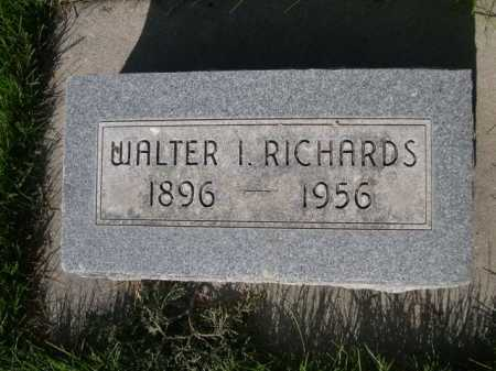 RICHARDS, WALTER I. - Dawes County, Nebraska   WALTER I. RICHARDS - Nebraska Gravestone Photos