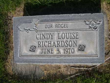 RICHARDSON, CINDY LOUISE - Dawes County, Nebraska | CINDY LOUISE RICHARDSON - Nebraska Gravestone Photos