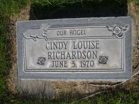 RICHARDSON, CINDY LOUISE - Dawes County, Nebraska   CINDY LOUISE RICHARDSON - Nebraska Gravestone Photos