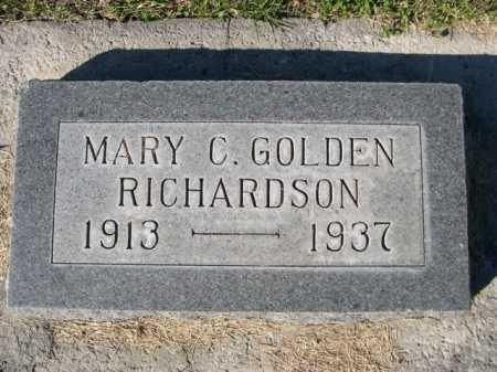 RICHARDSON, MARY C. GOLDEN - Dawes County, Nebraska | MARY C. GOLDEN RICHARDSON - Nebraska Gravestone Photos