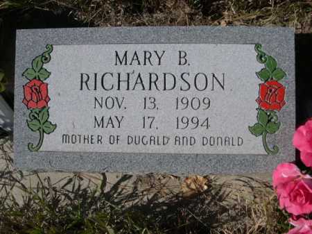 RICHARDSON, MARY B. - Dawes County, Nebraska | MARY B. RICHARDSON - Nebraska Gravestone Photos