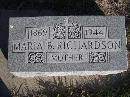 RICHARDSON, MARIA B. - Dawes County, Nebraska   MARIA B. RICHARDSON - Nebraska Gravestone Photos