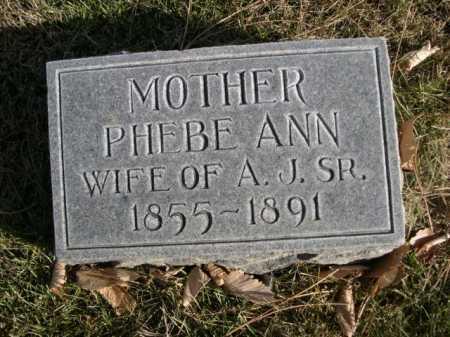 RICHARDSON, PHEBE ANN - Dawes County, Nebraska | PHEBE ANN RICHARDSON - Nebraska Gravestone Photos