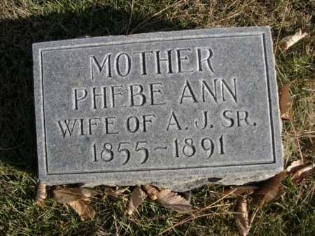 RICHARDSON, PHEBE ANN - Dawes County, Nebraska   PHEBE ANN RICHARDSON - Nebraska Gravestone Photos