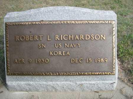 RICHARDSON, ROBERT L. - Dawes County, Nebraska | ROBERT L. RICHARDSON - Nebraska Gravestone Photos
