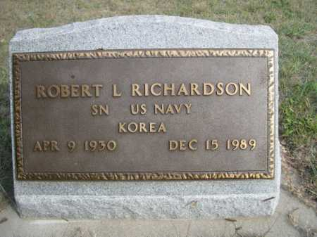RICHARDSON, ROBERT L. - Dawes County, Nebraska   ROBERT L. RICHARDSON - Nebraska Gravestone Photos