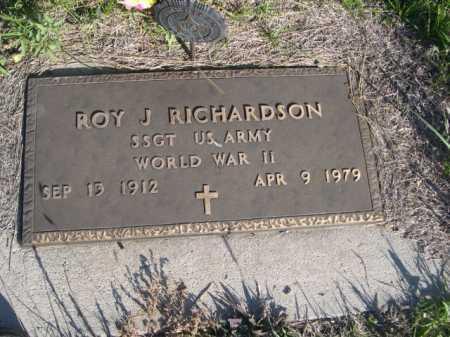 RICHARDSON, ROY J. - Dawes County, Nebraska   ROY J. RICHARDSON - Nebraska Gravestone Photos
