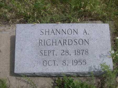 RICHARDSON, SHANNON A. - Dawes County, Nebraska | SHANNON A. RICHARDSON - Nebraska Gravestone Photos