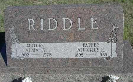 RIDDLE, ALMA A. - Dawes County, Nebraska   ALMA A. RIDDLE - Nebraska Gravestone Photos