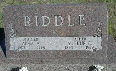 RIDDLE, AUBUR E. - Dawes County, Nebraska | AUBUR E. RIDDLE - Nebraska Gravestone Photos