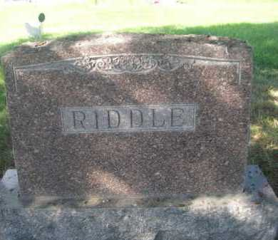 RIDDLE, FAMILY - Dawes County, Nebraska | FAMILY RIDDLE - Nebraska Gravestone Photos