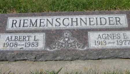 RIEMENSCHNEIDER, AGNES E. - Dawes County, Nebraska | AGNES E. RIEMENSCHNEIDER - Nebraska Gravestone Photos