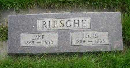 RIESCHE, JANE - Dawes County, Nebraska | JANE RIESCHE - Nebraska Gravestone Photos