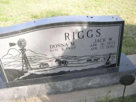 RIGGS, DONNA M. - Dawes County, Nebraska | DONNA M. RIGGS - Nebraska Gravestone Photos