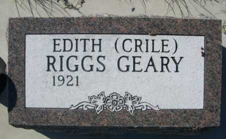 CRILE RIGGS, EDITH - Dawes County, Nebraska | EDITH CRILE RIGGS - Nebraska Gravestone Photos
