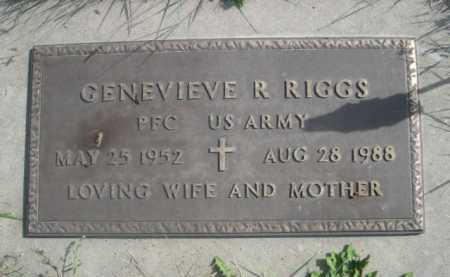 RIGGS, GENEVIEVE R. - Dawes County, Nebraska   GENEVIEVE R. RIGGS - Nebraska Gravestone Photos