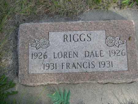 RIGGS, LOREN DALE - Dawes County, Nebraska | LOREN DALE RIGGS - Nebraska Gravestone Photos