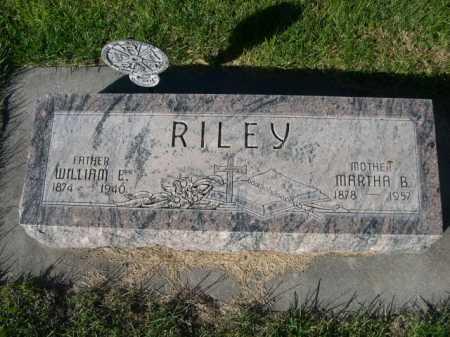 RILEY, MARTHA B. - Dawes County, Nebraska | MARTHA B. RILEY - Nebraska Gravestone Photos