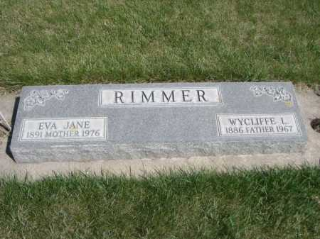 RIMMER, WYCLIFFE L. - Dawes County, Nebraska | WYCLIFFE L. RIMMER - Nebraska Gravestone Photos