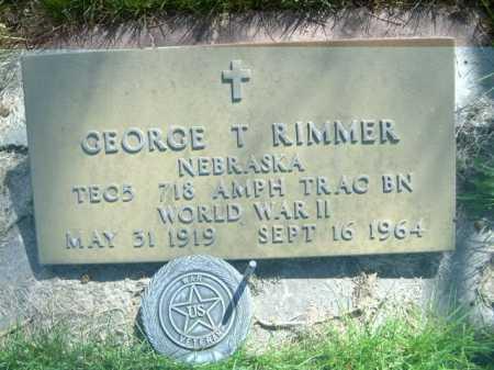 RIMMER, GEORGE T. - Dawes County, Nebraska | GEORGE T. RIMMER - Nebraska Gravestone Photos