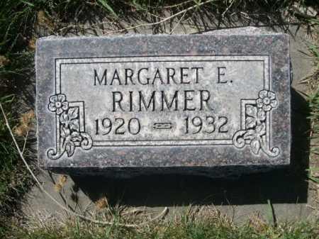 RIMMER, MARGARET E. - Dawes County, Nebraska | MARGARET E. RIMMER - Nebraska Gravestone Photos