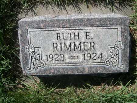 RIMMER, RUTH E. - Dawes County, Nebraska   RUTH E. RIMMER - Nebraska Gravestone Photos