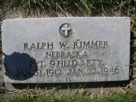 RIMMER, RALPH W. - Dawes County, Nebraska | RALPH W. RIMMER - Nebraska Gravestone Photos