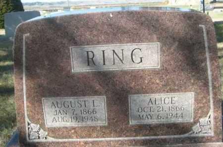 RING, AUGUST L. - Dawes County, Nebraska | AUGUST L. RING - Nebraska Gravestone Photos