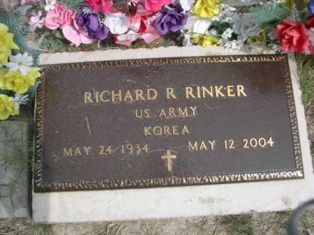 RINKER, RICHARD - Dawes County, Nebraska | RICHARD RINKER - Nebraska Gravestone Photos