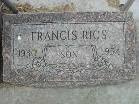 RIOS, FRANCIS - Dawes County, Nebraska | FRANCIS RIOS - Nebraska Gravestone Photos