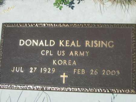 RISING, DONALD KEAL - Dawes County, Nebraska | DONALD KEAL RISING - Nebraska Gravestone Photos