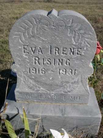 RISING, EVA IRENE - Dawes County, Nebraska | EVA IRENE RISING - Nebraska Gravestone Photos