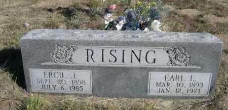 RISING, EARL L. - Dawes County, Nebraska | EARL L. RISING - Nebraska Gravestone Photos