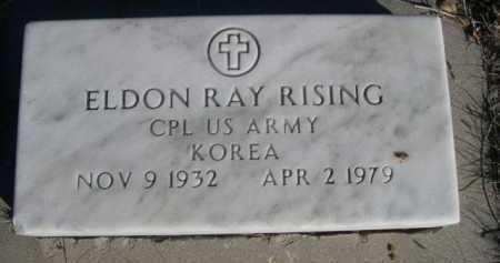 RISING, ELDON RAY - Dawes County, Nebraska   ELDON RAY RISING - Nebraska Gravestone Photos