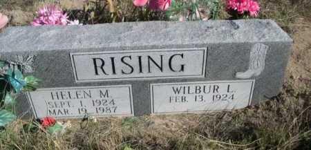 RISING, WILBER L. - Dawes County, Nebraska | WILBER L. RISING - Nebraska Gravestone Photos