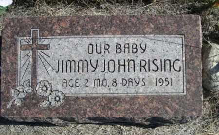 RISING, JIMMY JOHN - Dawes County, Nebraska | JIMMY JOHN RISING - Nebraska Gravestone Photos