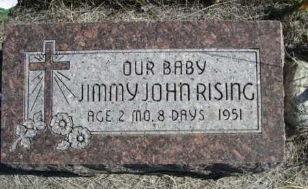 RISING, JIMMY JOHN - Dawes County, Nebraska | JIMMY JOHN RISING - Nebraska Gravestone Photos