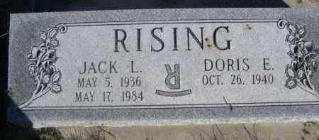 RISING, DORIS E. - Dawes County, Nebraska | DORIS E. RISING - Nebraska Gravestone Photos