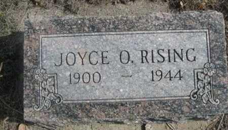 RISING, JOYCE O. - Dawes County, Nebraska   JOYCE O. RISING - Nebraska Gravestone Photos