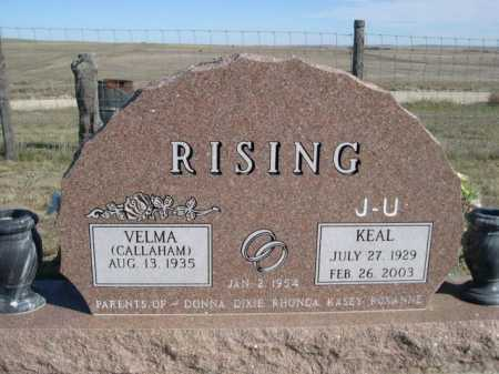 RISING, KEAL - Dawes County, Nebraska   KEAL RISING - Nebraska Gravestone Photos
